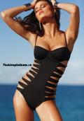Купить черный слитый (сплошной) купальник, бельё от 499 руб./ цены, фото, отзывы в интернет магазине Fashionplatinum.ru