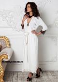Купить шелковый длинный белый пеньюар, бельё от 499 руб./ цены, фото, отзывы в интернет магазине Fashionplatinum.ru
