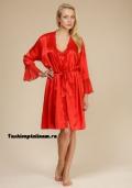 Купить шелковый женский красный халат, бельё от 499 руб./ цены, фото, отзывы в интернет магазине Fashionplatinum.ru