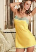 Купить в интернет магазине желтый атласный пеньюар, бельё от 499 руб./ цены, фото, отзывы в интернет магазине Fashionplatinum.ru