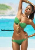 Купить зеленый купальник с якорем, цепью, зеленый верх черный низ, бельё от 499 руб./ цены, фото, отзывы в интернет магазине Fashionplatinum.ru