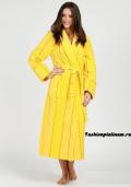 Купить женский желтый (желтого цвета) махровый халат, бельё от 499 руб./ цены, фото, отзывы в интернет магазине Fashionplatinum.ru